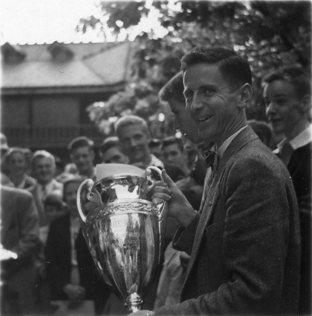 Charlie Butt with Trophy